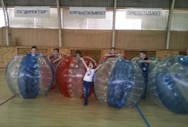 Бампербол на Дне Рождения юного футболиста