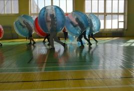 Турнир по бамперболу у школьного класса